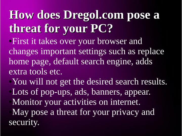 How does Dregol.com pose a