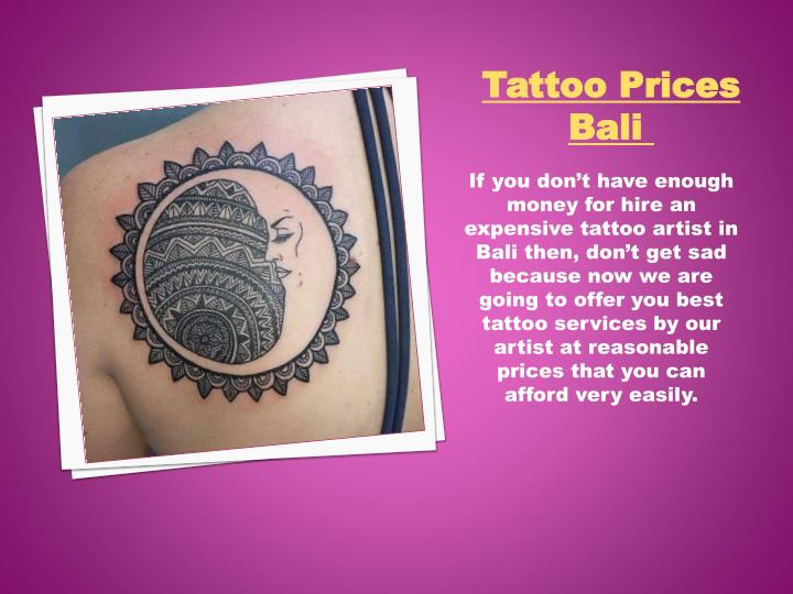Tattoo Prices Bali