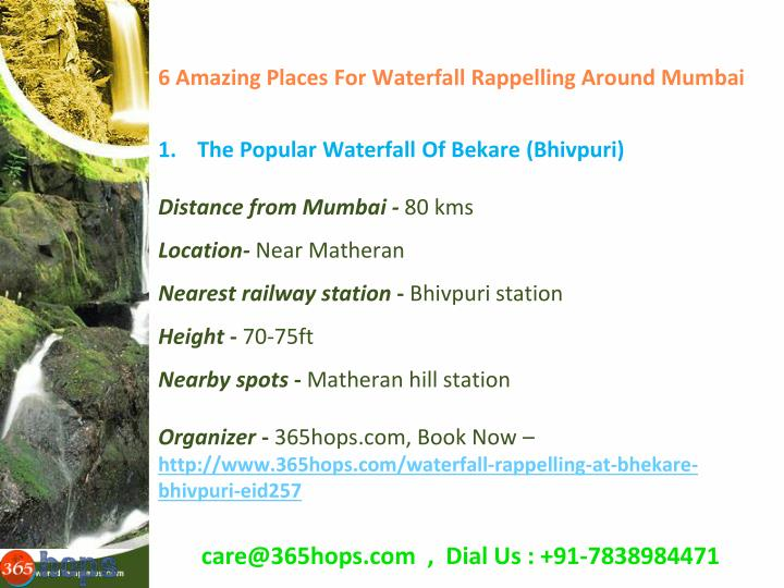 6 Amazing Places For Waterfall Rappelling Around Mumbai