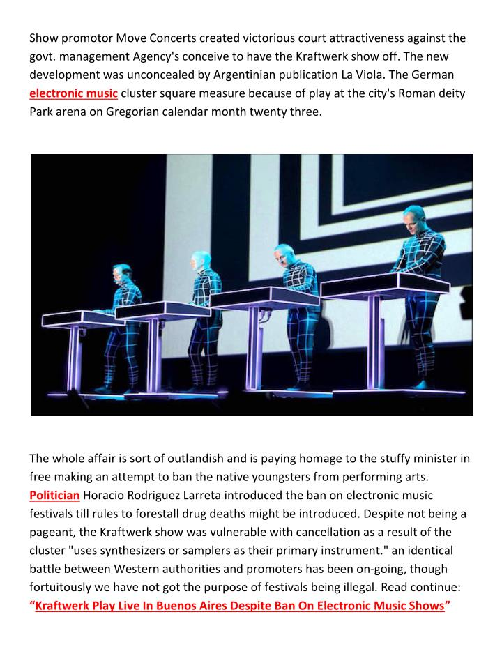Show promotor Move Concerts created victorious court attractiveness against the