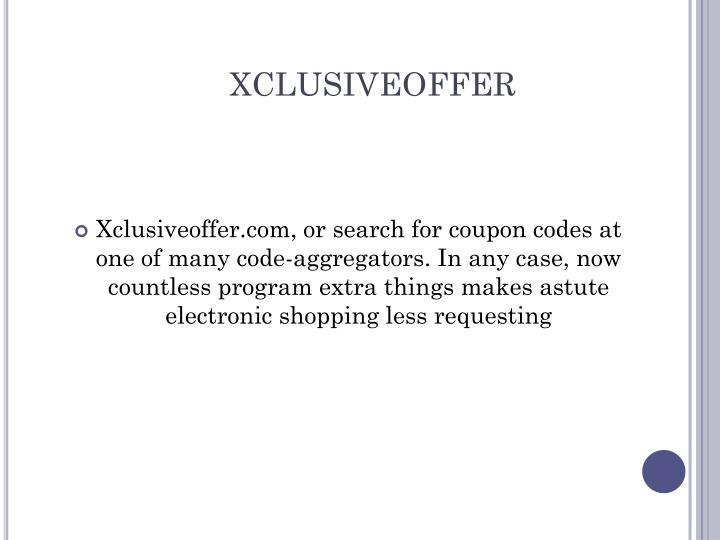 xclusiveoffer