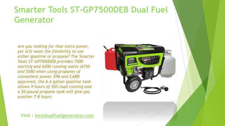 Smarter Tools ST-GP7500DEB Dual Fuel Generator