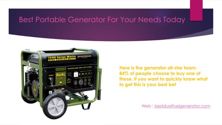 Best portable generator for your needs today