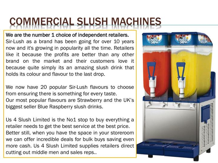 Commercial Slush Machines