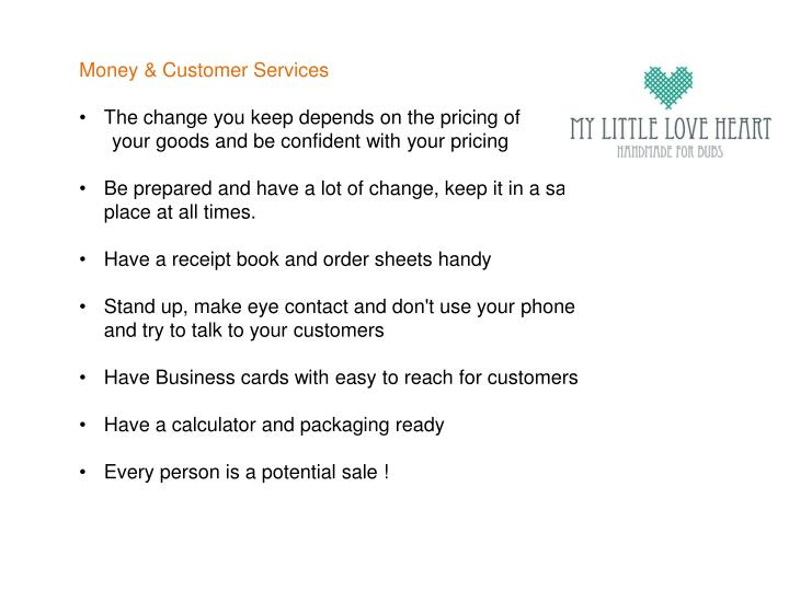 Money & Customer Services
