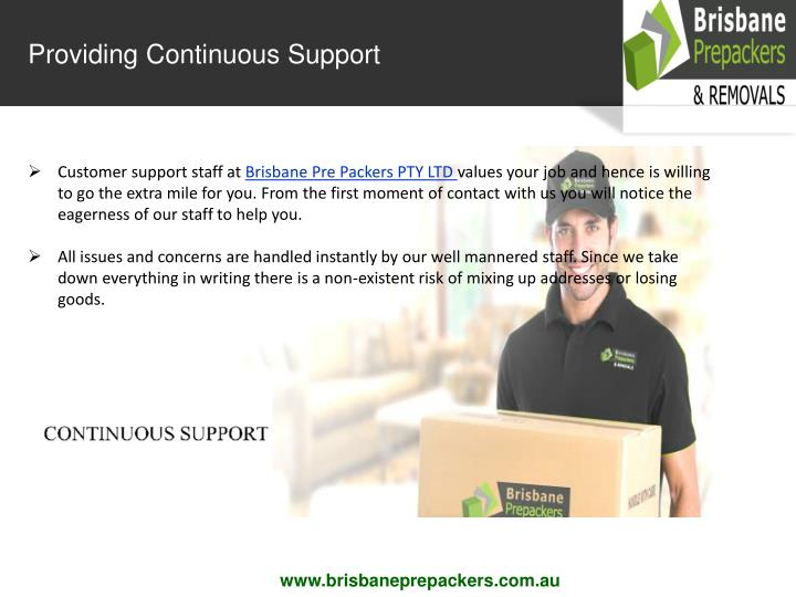 Providing Continuous Support