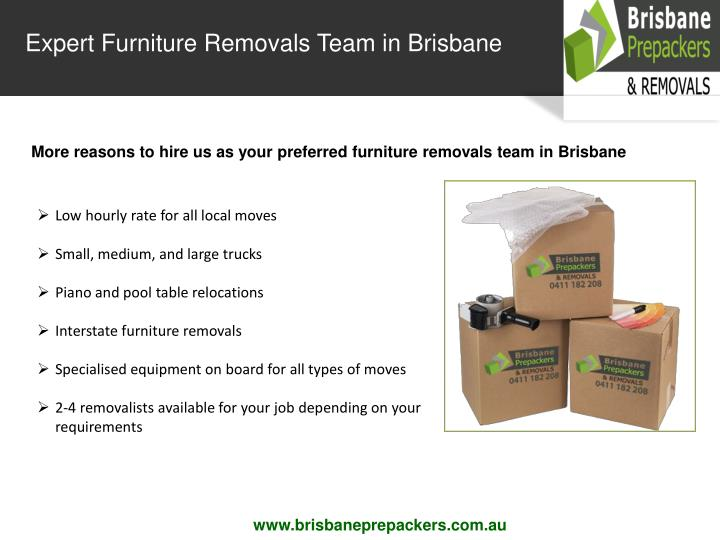 Expert Furniture Removals Team in Brisbane