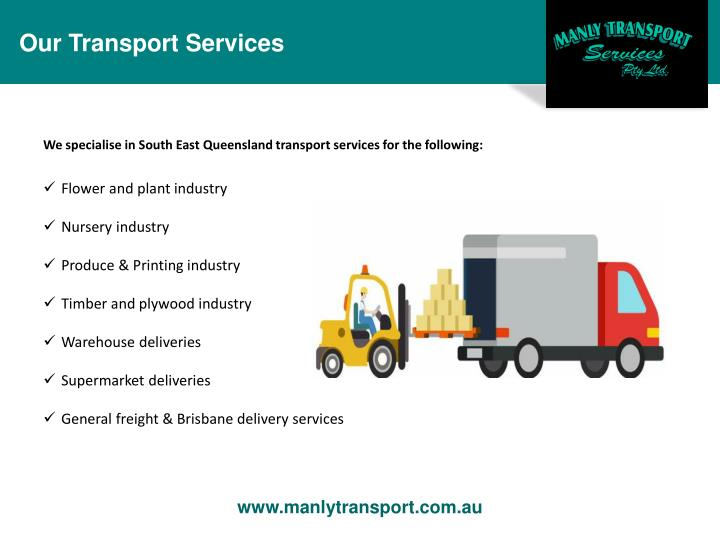 Our Transport Services
