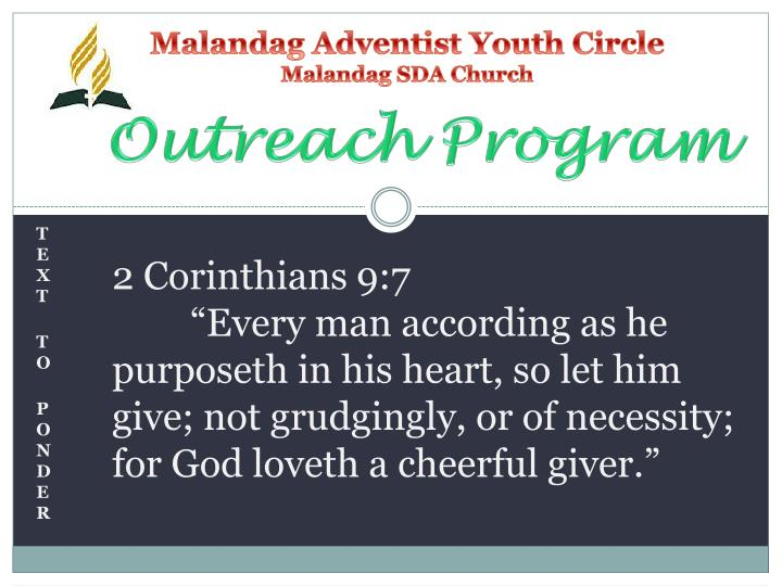 Malandag adventist youth circle malandag sda church1
