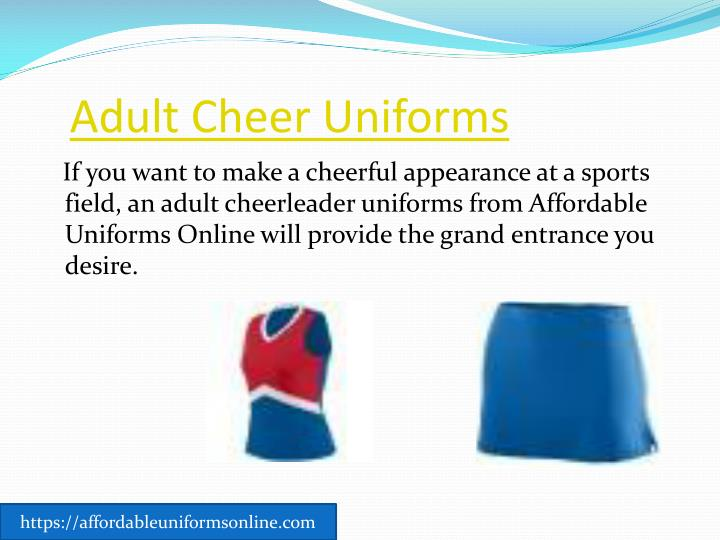 Adult cheer uniforms