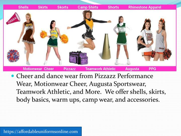 Cheer and dance wear from Pizzazz Performance Wear,