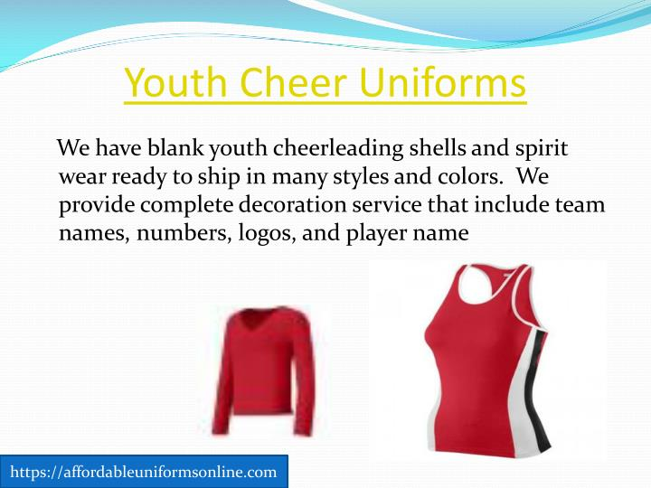 Youth Cheer Uniforms