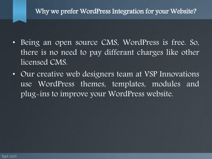 Why we prefer WordPress Integration for your Website?