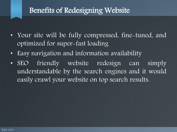 Benefits of Redesigning Website