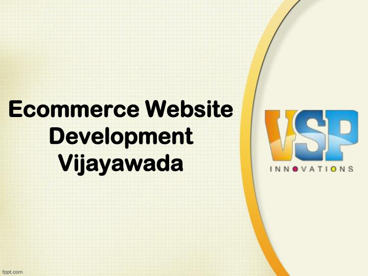 Ecommerce website development vijayawada