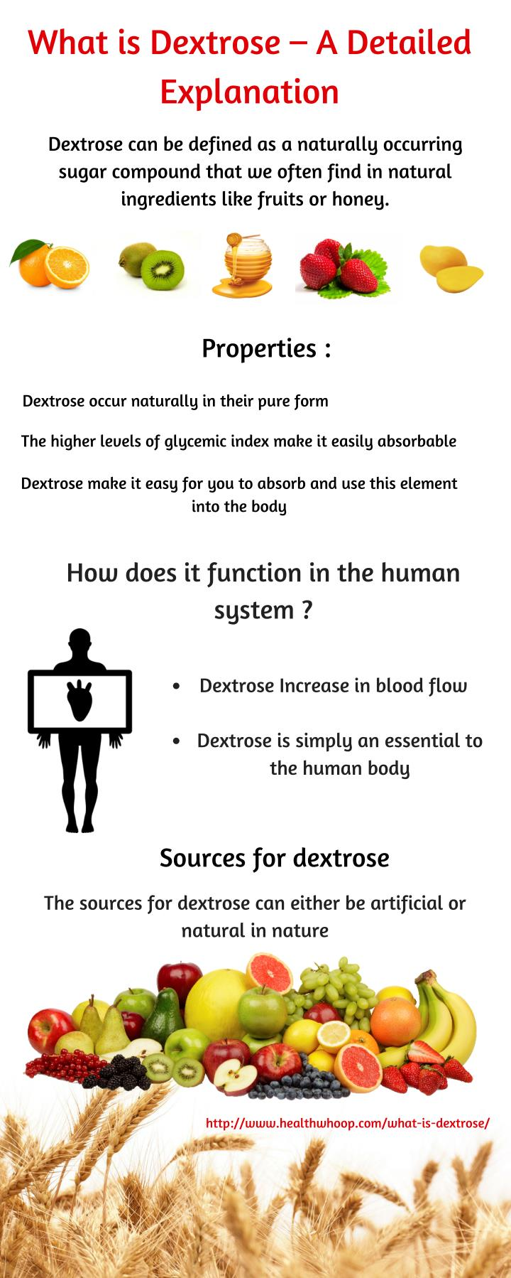 What is Dextrose – A Detailed