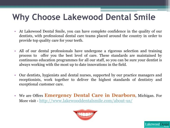 Why choose lakewood dental smile