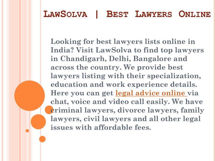 LawSolva | Best Lawyers Online