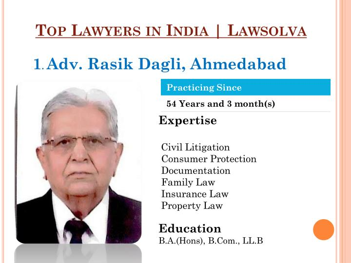 Top Lawyers in India |