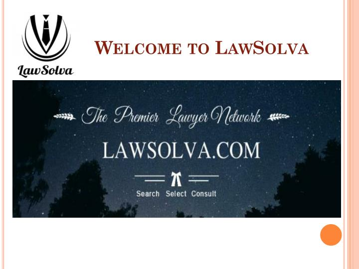 Welcome to lawsolva