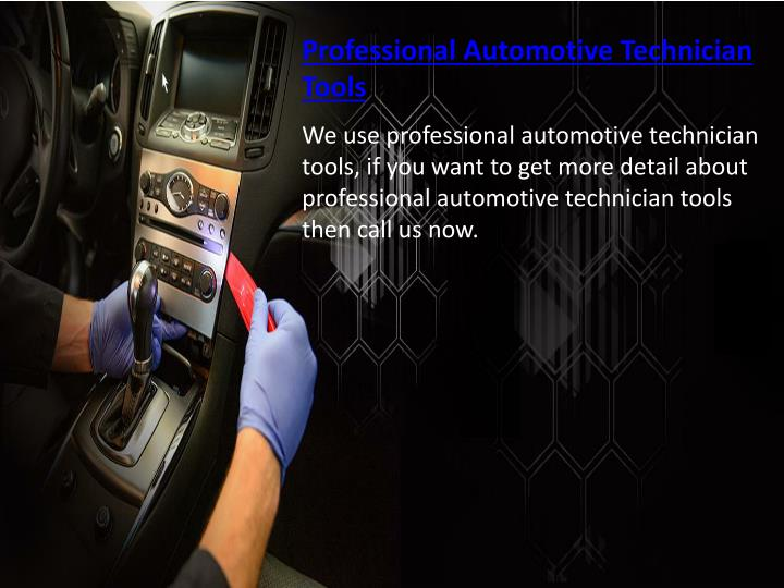 Professional Automotive Technician Tools