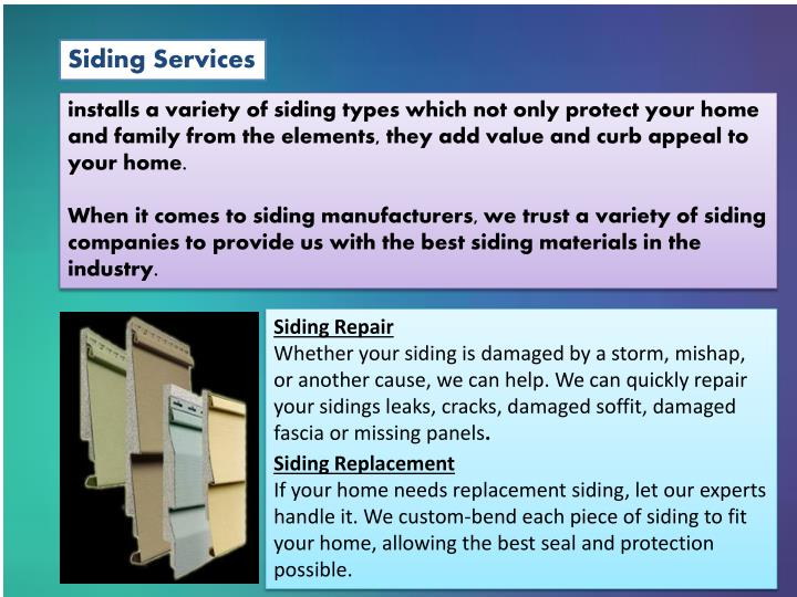 Siding Services