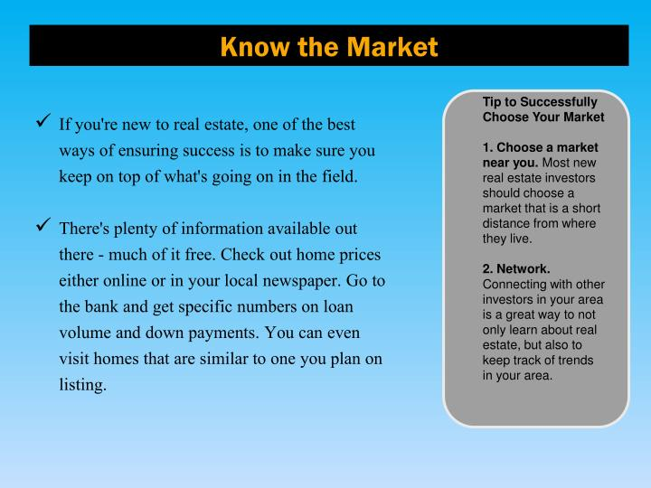Know the market