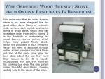 why ordering wood burning stove from online resources is beneficial