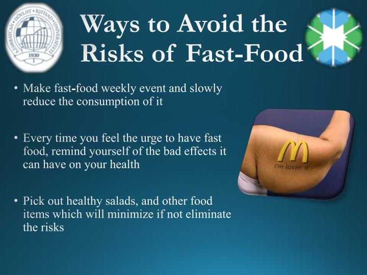 Ways to Avoid the Risks of Fast-Food
