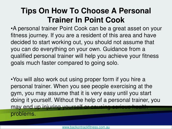 Tips on how to choose a personal trainer in point cook1