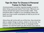 tips on how to choose a personal trainer in point cook3