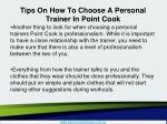 tips on how to choose a personal trainer in point cook4