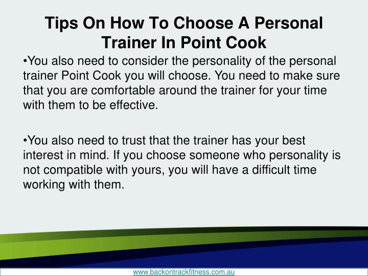 Tips On How To Choose A Personal Trainer In Point Cook