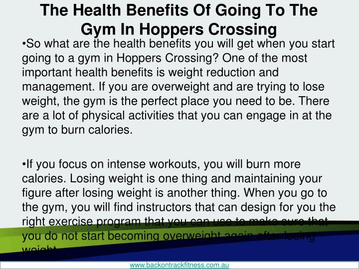 The health benefits of going to the gym in hoppers crossing2