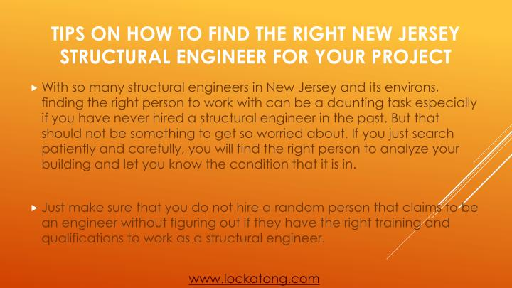 Tips on how to find the right new jersey structural engineer for your project2