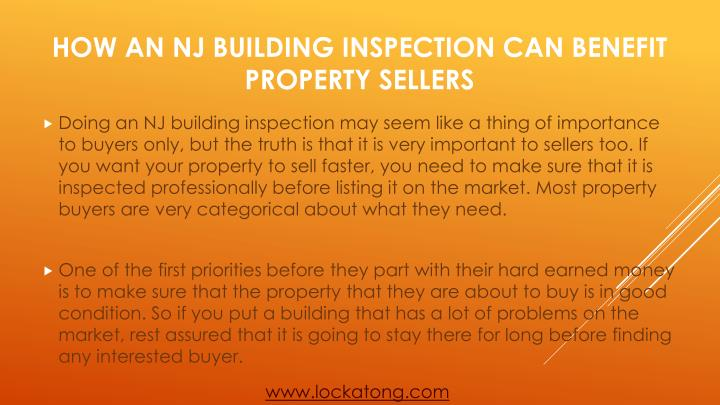 How an nj building inspection can benefit property sellers1