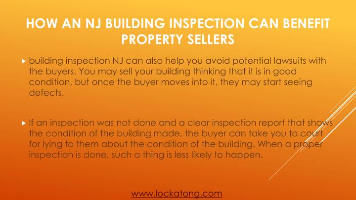 building inspection NJ can also help you avoid potential lawsuits with the buyers. You may sell your building thinking that it is in good condition, but once the buyer moves into it, they may start seeing defects.