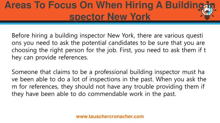 Areas to focus on when hiring a building inspector new york1