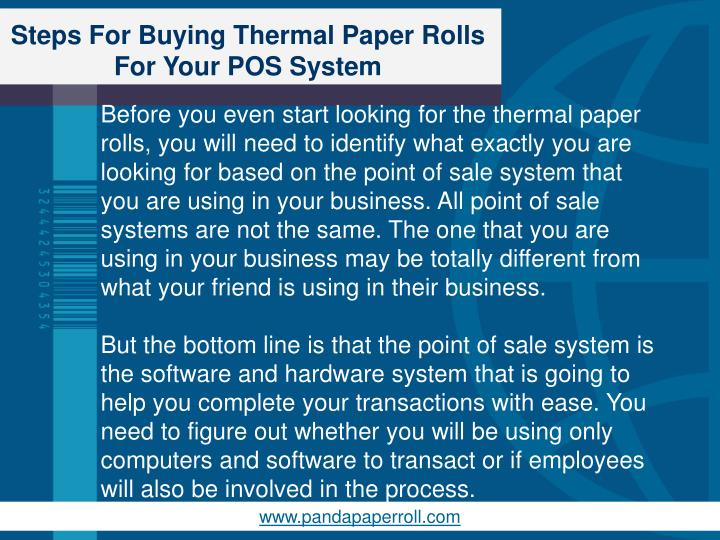 Steps for buying thermal paper rolls for your pos system2