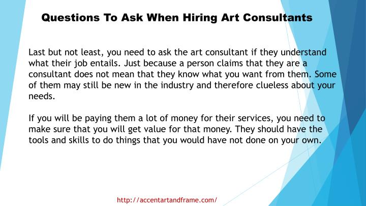 Questions To Ask When Hiring Art Consultants