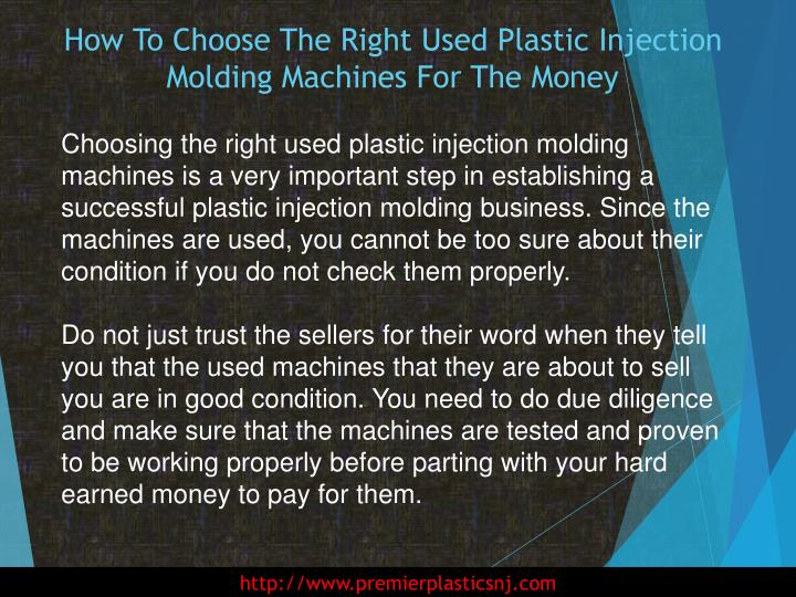 How To Choose The Right Used Plastic Injection Molding Machines For The Money