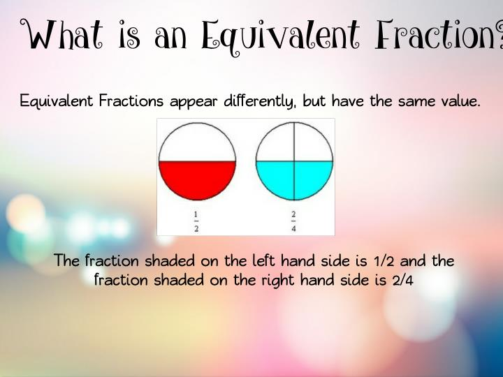 What is an Equivalent Fraction?