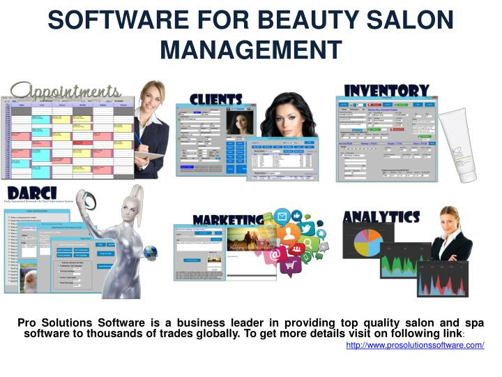 SOFTWARE FOR BEAUTY SALON MANAGEMENT