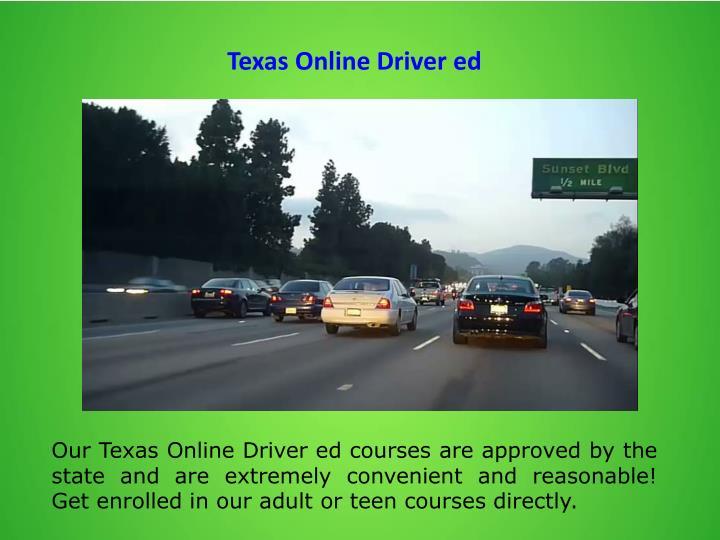 Texas Online Driver ed