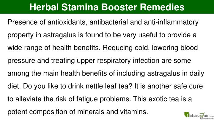 Herbal Stamina Booster Remedies