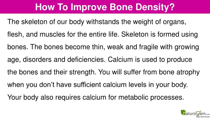 How To Improve Bone