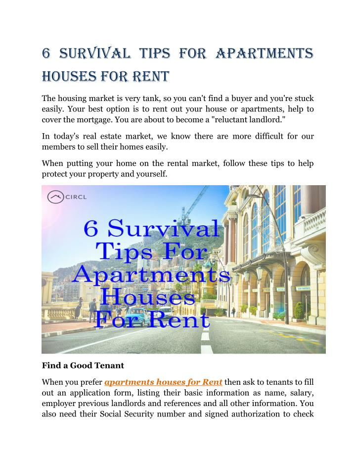 6 Survival Tips for Apartments