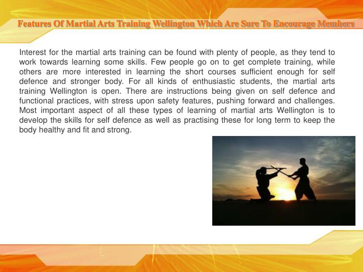 Features Of Martial Arts Training Wellington Which Are Sure To Encourage Members