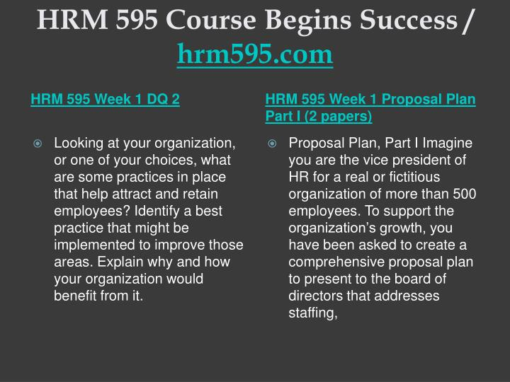 Hrm 595 course begins success hrm595 com2