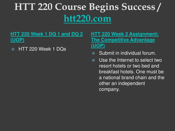 Htt 220 course begins success htt220 com2